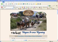 Wagons Across Wyoming